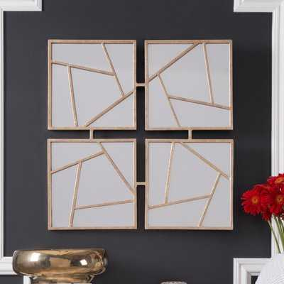 Whitsett Four Faces Accent Mirror - Wayfair