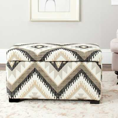 Madison Storage Bench Small - Tribal Design/Black - Arlo Home - Arlo Home
