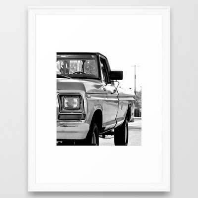I Side With The Truck Framed Art Print - Society6