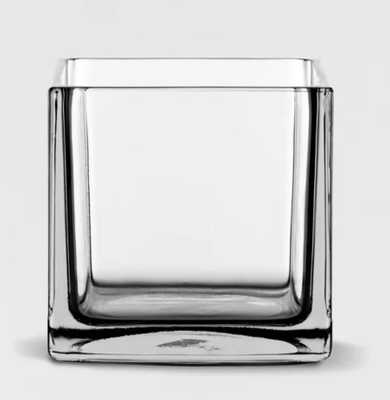 """6"""" x 6"""" Decorative Square Glass Vase Clear - Threshold™ - Target"""