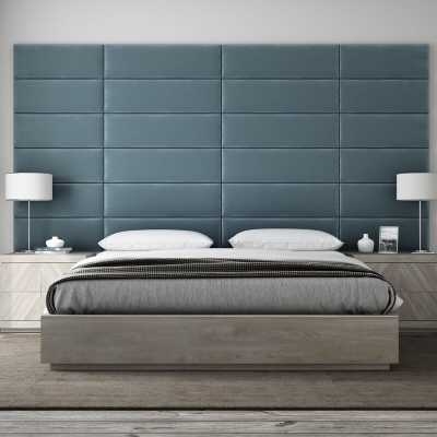 Bernardsville Upholstered Panel Headboard Antique Blue - AllModern