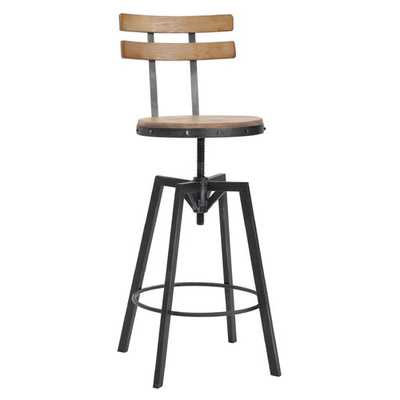 Gloria Adjustable Height Swivel Bar Stool - Wayfair