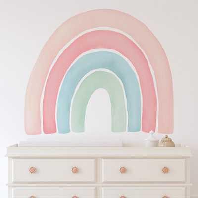 Watercolour Rainbow Wall Decal - Peel and Stick - Wayfair