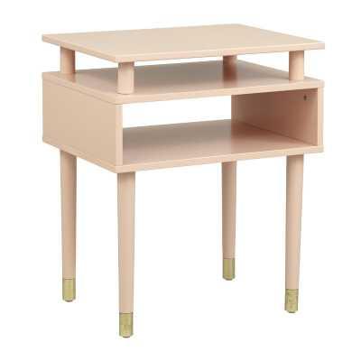 Blush Pink/Gold Callaham End Table with Storage - Wayfair