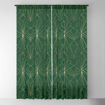 Art Deco in Gold & Green - Large Scale Blackout Curtain - Society6