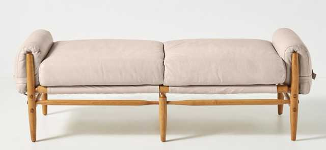Rhys Bench in Blush Premium Leather - Anthropologie