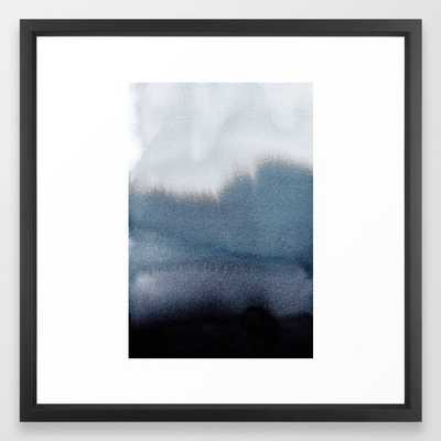 In Blue - FRAMED ART PRINT VECTOR Black - Society6