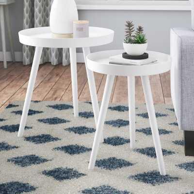 Kinchen Round End Table Set_White - Wayfair