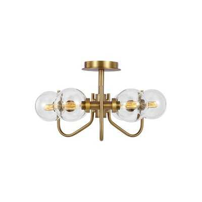 "6 -Light 20"" Chandelier Style Sphere Semi Flush Mount - Wayfair"