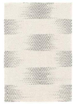 TANSY GREY WOVEN WOOL RUG 9x12 - Dash and Albert