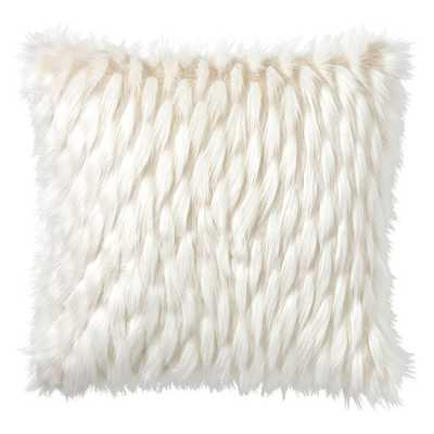 "Faux-Fur Pillow Cover, 26x26"", Winter Fox - Pottery Barn Teen"