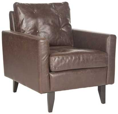 Mid Century Modern Caleb Club Chair - Antique Brown/Espresso - Arlo Home - Arlo Home