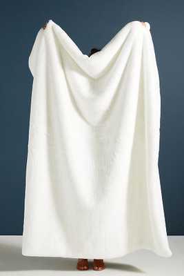 Sophie Faux Fur Throw Blanket in White - Anthropologie