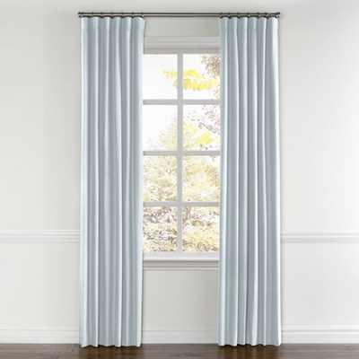 Powder Blue Linen curtains - 55x96 - Set - Loom Decor
