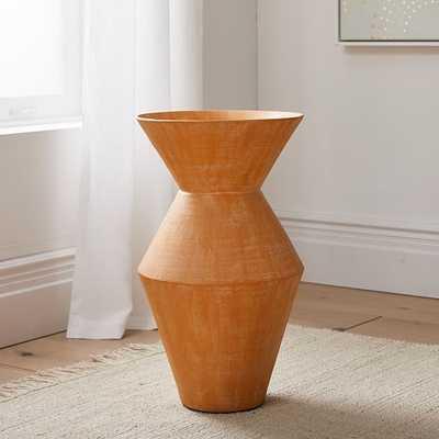 Thom Textured Floor Vase, Orange, Extra Large - West Elm