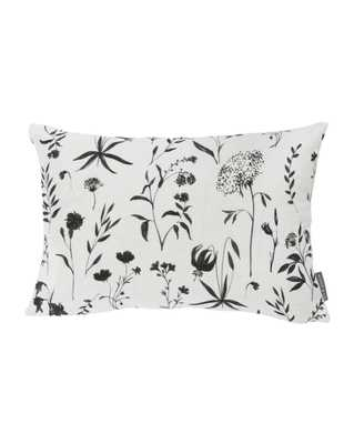 """JUNO FLORAL PILLOW WITHOUT INSERT, WHITE, 14"""" x 20"""" - McGee & Co."""
