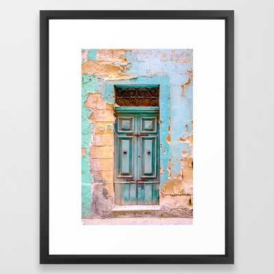Blue Door in Antiqua, Guatemala Framed Art Print - Society6