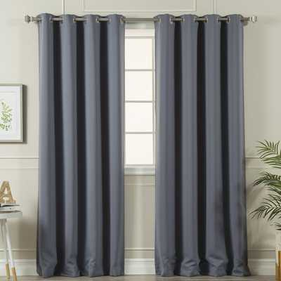 Schaeffer Solid Blackout Thermal Grommet Curtain Panels (Set of 2) - Wayfair
