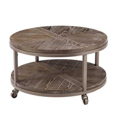 Drossett Wheel Coffee Table with Storage - Wayfair