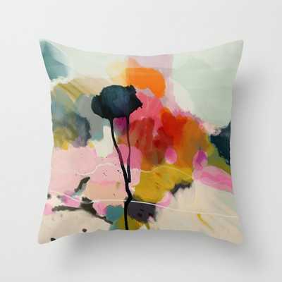 Paysage abstract Throw Pillow with Insert - Society6