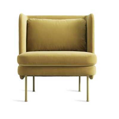 Bloke Velvet Lounge Chair - Perigold