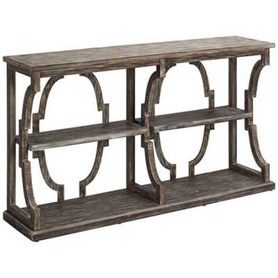 Crestview Collection Stockton Chestnut 3-Tier Console Table - Lamps Plus
