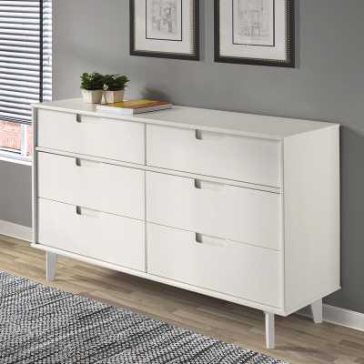 Cecille Groove 6 Drawer Double Dresser - Wayfair
