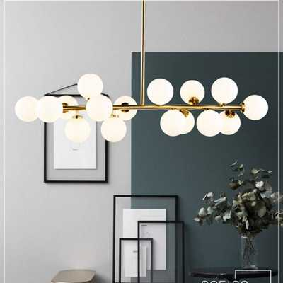 Fandian Post-Modern Ceiling Light LED Chandelier Pendant Lamp, DNA Shaped with G4 LED Kits (Bright Gold) - Amazon