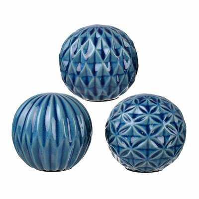 3 Piece Giroflee Ball Sculpture Set - Wayfair