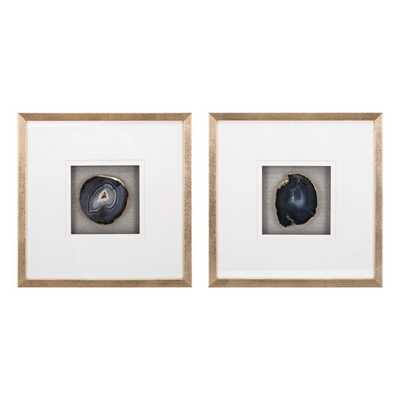 Agate Wall Decor - Ast 2 - Mercer Collection