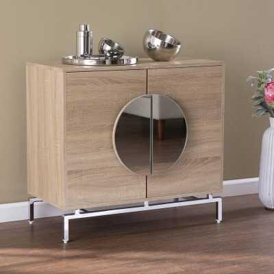 Northdom Bar Cabinet W/ Wine Storage, Natural And Chrome - Wayfair