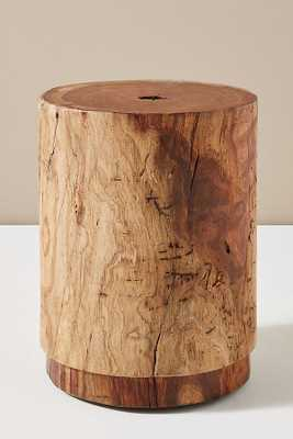 Live-Edge Drum Side Table - Anthropologie