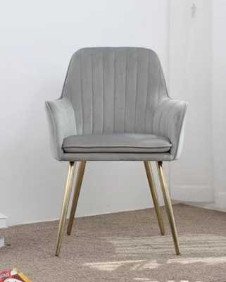 Nita Upholstered Dining Chair- Gray - Wayfair