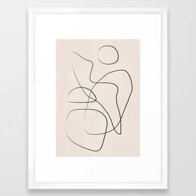 Abstract Line I Framed Art Print - Society6