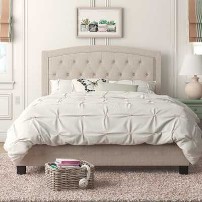 Pascal Upholstered Panel Bed - Wayfair