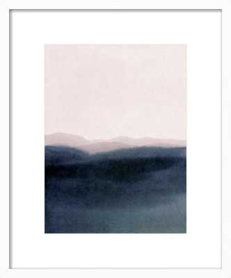 "dusk scenery- 16""X20"" -with Matte/Contemporary White Wood Frame - Artfully Walls"
