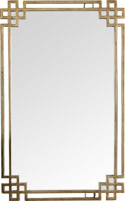 Emelia Rectangle Gold Mirror - Wayfair
