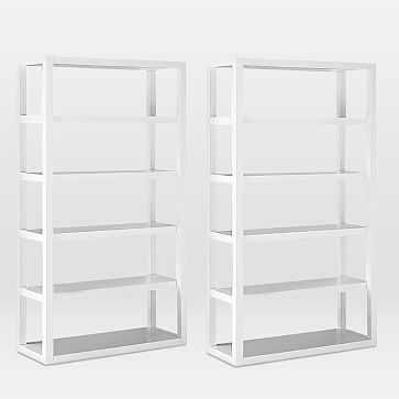 Parsons Tower, White Lacquer, Set of 2 - West Elm