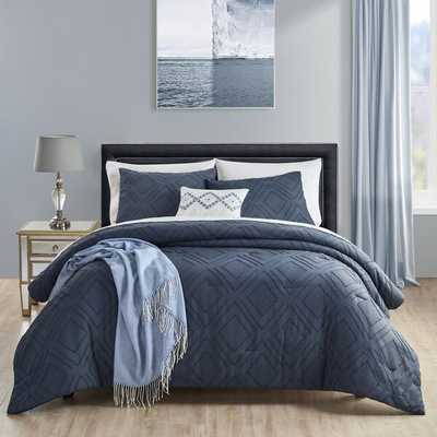 Clipped Textured Comforter Set - Wayfair