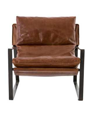 PEYTON CHAIR, TOBACCO & GUNMETAL - McGee & Co.