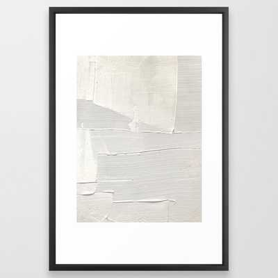 Relief [1]: an abstract, textured piece in white - Society6