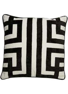 """Cosmic Pillow In Marshmallow & Jet Black Design by Nikki Chu -22"""" x 22""""-Poly Fill Insert - Collective Weavers"""