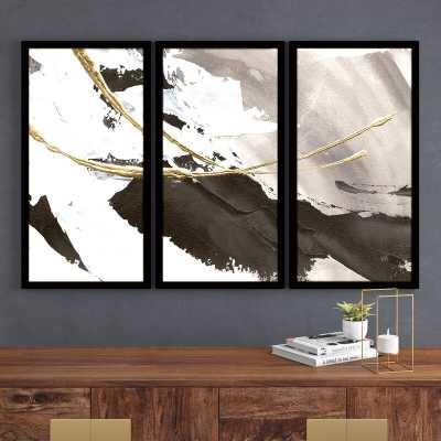 Gilded Arcs I - 3 Piece Picture Frame Multi-Piece Image Print Set on Plastic/Acrylic - AllModern