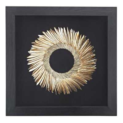 Shadow Box Black And GoldWall Décor - Wayfair