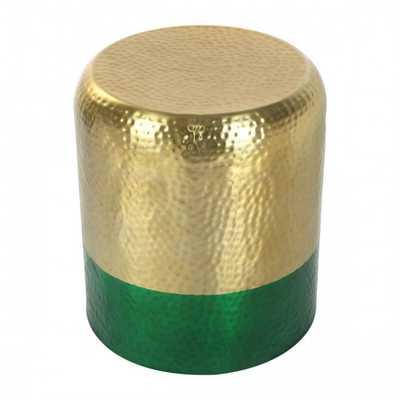 Mia Accent Table Gold & Green - Zuri Studios