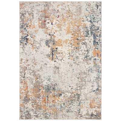 Gutierez Abstract Gray/Orange Area Rug - Wayfair