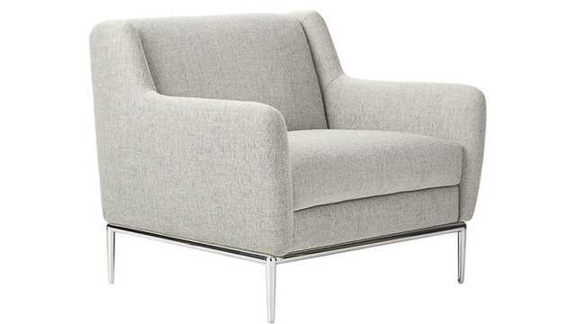 Alfred Stone Grey Chair - CB2