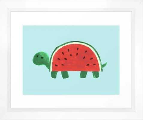 """Slow Day Framed Art Print - 10"""" x 12"""", vector white frame - Society6"""
