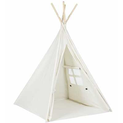 Children Indoor/Outdoor Cotton & Canvas Play Teepee - Wayfair