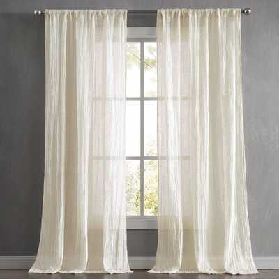 Charter Crushed Window Solid Semi-Sheer Curtain Panels (set of 2) - Wayfair
